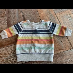 Nwt Gymboree multi colored striped sweatshirt